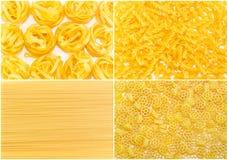 Комплект предпосылок несколько разнообразий сырых макаронных изделий различных Стоковые Изображения RF