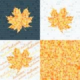 Комплект 4 предпосылок осени Абстрактные геометрические предпосылки бесплатная иллюстрация