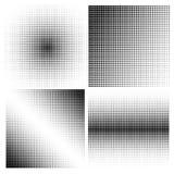 Комплект предпосылок полутонового изображения черный цвет Стоковые Изображения RF
