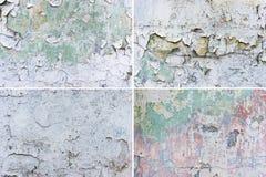 Комплект предпосылок стены grunge Стоковые Фотографии RF