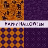 Комплект предпосылок хеллоуина Стоковое фото RF