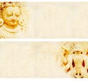 Комплект предпосылок grunge с бумажной текстурой и ориентир ориентиры Индии Стоковые Изображения