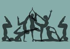 Комплект представлений йоги Стоковые Фото