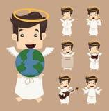 Комплект представлений характеров ангела Стоковые Изображения