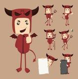 Комплект представлений характеров дьявола Стоковое Фото