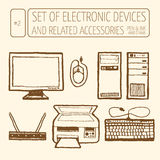 комплект приборов электронный Стоковое фото RF