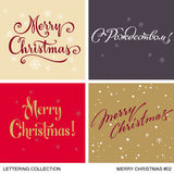 Комплект приветствиям рождества и Нового Года handmade Стоковая Фотография