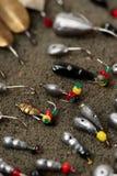 Комплект прикормов для рыбной ловли льда Стоковые Фотографии RF