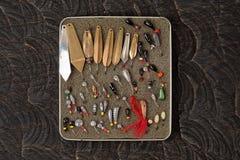 Комплект прикормов для рыбной ловли льда Стоковое Изображение
