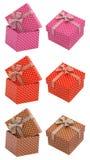 Комплект присутствующих подарочных коробок Стоковая Фотография