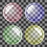 Комплект прозрачного вектора пузырей Стоковые Фото