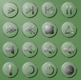 Комплект прозрачных кнопок Стоковые Фото