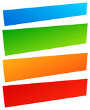 Комплект простого знамени, формы кнопки Красочные знамена, кнопки иллюстрация штока
