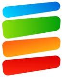 Комплект простого знамени, формы кнопки Красочные знамена, кнопки иллюстрация вектора