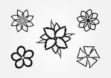 Комплект простых цветов grunge Грубая щетка элементы 5 Стоковое Изображение RF