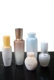 Внимательность кожи и продукты красотки Стоковое Фото