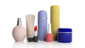 Комплект продуктов косметик на белой предпосылке иллюстрация 3d иллюстрация вектора