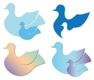 Комплект птиц для логотипов Стоковое Изображение