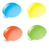 Цветастые пузыри речи Стоковые Изображения RF