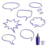 Комплект пузырей речи на белой предпосылке Стоковое Изображение