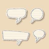 Комплект пузырей речи от бумаги. Стоковые Изображения RF