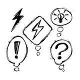 Комплект пузырей grunge чернил бормотушк вектора Стоковое Изображение
