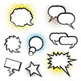 Комплект пузыря речи, стиля искусства шипучки Стоковое Фото