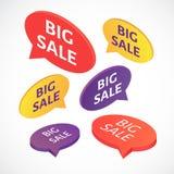 Комплект пузыря текста продажи вектора большой Стоковое Фото