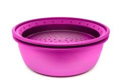 Комплект пурпура пластмассы варя изолированные контейнеры Стоковые Фотографии RF