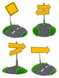 Комплект пустых концепций дорожного знака Стоковая Фотография