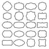 Комплект пустых ретро винтажных значков и ярлыков Стоковое Изображение RF