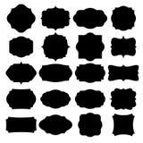 Комплект пустых ретро винтажных значков и ярлыков Стоковая Фотография RF