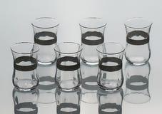 Комплект 6 пустых форменн-тюльпанов чашек чаю Стоковое Фото