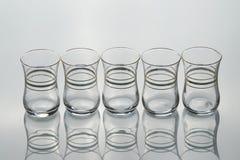 Комплект 6 пустых форменн-тюльпанов чашек чаю Стоковые Изображения RF