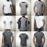 Комплект пустых футболок Стоковые Изображения