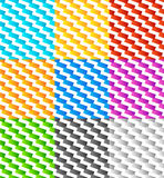 Комплект 9 плавно repeatable геометрических картин иллюстрация штока