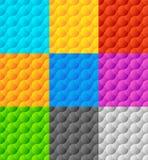 Комплект 9 плавно repeatable геометрических картин Стоковое Изображение RF