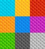 Комплект 9 плавно repeatable геометрических картин Стоковые Фото