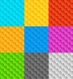 Комплект 9 плавно repeatable геометрических картин Стоковая Фотография RF