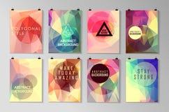 Комплект плаката, рогульки, шаблонов дизайна брошюры Стоковое Фото
