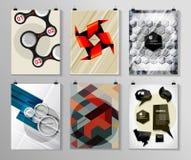 Комплект плаката, рогульки, шаблонов дизайна брошюры Стоковая Фотография