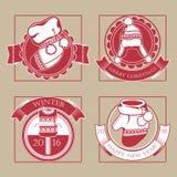 Комплект плакатов рождества Стоковые Фото