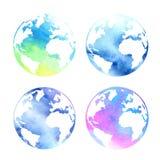Комплект планет акварели Стоковое Фото