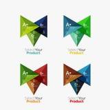 Комплект планов треугольника infographic с текстом и вариантами Стоковые Фотографии RF