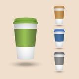 Комплект пластичных чашек Стоковая Фотография RF
