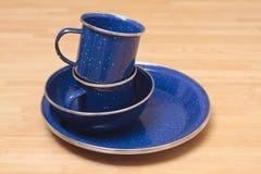Комплект плиты эмали Стоковое фото RF