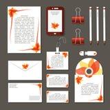 Комплект плоских деталей дизайна для дела стоковые изображения