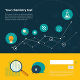 Комплект плоского значка дизайна для эксперимента бесплатная иллюстрация