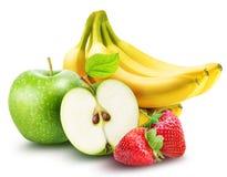 Комплект плодоовощ изолированный на белой предпосылке Стоковое Изображение