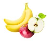 Комплект плодоовощ изолированный на белой предпосылке Стоковая Фотография RF